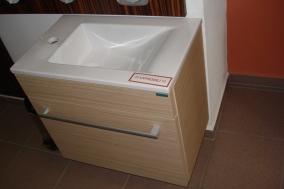 VÝPRODEJ: Lebon závěsná skříňka s umyvadlem 55x34cm